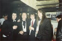 Danny with best friend Mac, who passed away Dec'96, James & Andy